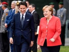 Italiens Ministerpräsident Giuseppe Conte und Bundeskanzlerin Angela Merkel sind sich einig, dass der EU-Aussengrenzenschutz und die Grentschutzagentur Frontext verstärkt werden müssen. (Bild: KEYSTONE/EPA/FILIP SINGER)