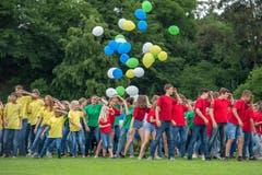 Abschluss des Verbandsturnfestes in Hochdorf. Bild: Pius Amrein (Hochdorf, 16. Juni 2018)