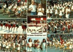 Eine Ansichtskarte fürs Kinderfest 1977. (Bild: Stadtarchiv der Ortsbürgergemeinde St.Gallen)