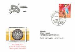 Ein Souvenir vom Kinderfest 1990: Damals war es üblich, dass die Post an Grossanlässen ein Automobil-Postbüro stationierte. Am Kinderfest wartet dieses mit einem speziellen Couvert mit dem Logo des jeweiligen Jahres auf. (Bild: Sammlung Reto Voneschen)