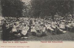 Mittagsverpflegung vor 1914.