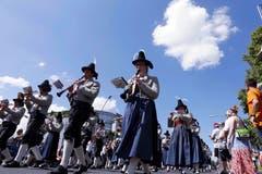 Impressionen vom Blasmusikfestival.Im Bild: Musikkapelle Obertilliach. Bild: Werner Schelbert (Zuger Zeitung)