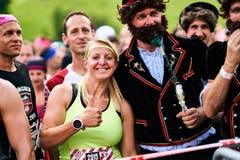 Originell verkleidete Läufer, auch dies gehört zum Strongmanrun. (Bild: PD)