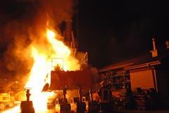 Die Feuerwehr brachte den Brand schnell unter Kontrolle . (Bild: Luzerner Polizei)