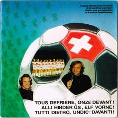 Lied für die Nationalmannschaft in drei Sprachen von 1989.
