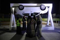 Die arabischen Frauen werden für alle mögliche Situationen vorbereitet. Bild: Sean Gallup/Getty (Jeddah, 21. Juni 2018)