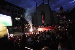 In der Stadt wird weiter gefeiert (Bild: Jakob Ineichen, Luzern, 22. Juni 2018)