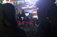 Eine Frau im Niqab auf der Gokart-Strecke. Bild: Sean Gallup/Getty (Jeddah, 21. Juni 2018)