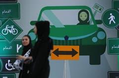 Infotage zum Autofahren wurden in ganz Saudi-Arabien veranstaltet. Bild: Sean Gallup/Getty (Jeddah, 21. Juni 2018)