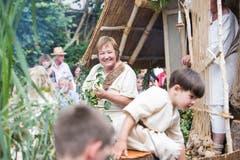 """Trachtengruppe Egolzwil-Wauwil """"Pfahlbauer vom Wauwilermoos"""". (Bild: Manuela Jans-Koch. Schötz 24.Juni 2018)"""