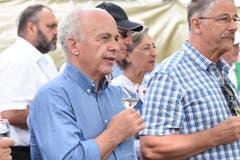 Bundesrat Ueli Maurer verfolgt das Geschehen seit dem Anschwingen.