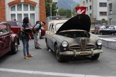 Am Alfa-Romeo-Treffen in Altdorf gab es einen echten Scheunenfund zu bestaunen. Baujahr 1950. (Bild: Florian Arnold, 24. Juni 2018)