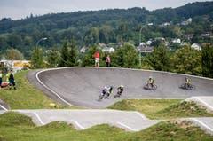 Nach fünf Jahren endlich eingeweiht: der BMX-Pumptrack in der Güttingersreuti Weinfelden. (Bild: Reto Martin)