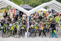 Grosser Andrang beim BMX-Rennen. (Bild: Reto Martin)