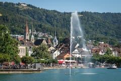 Traumwetter am Zuger Seefest (Bild: Christian H. Hildebrand, 23. Juni 2018).