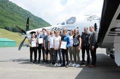 Klasse 3 ORS Buochs, deren Projekt «Ökoschule» ebenfalls einen Mint-Preis erhielt.