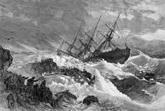 Die Havarie des Auswandererschiffes «SS Atlantic» an Neuschottlands Küste am 1. April 1873 forderte 545 Todesopfer, davon 31 aus Sevelen und Wartau. (Bild: Aus «Harper's Weekly» vom 19. April 1873)