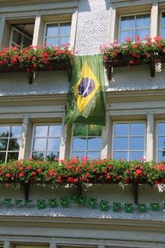 Brasilien im bluemete Trögli. Historisches Haus am Grütliweg im Neudorf.