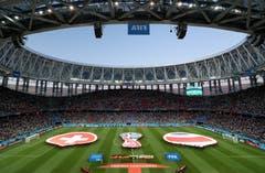 Blick in die Arena von Nischni Novgorod (Bild: Vassil Donev / EPA)