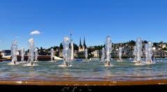Der Wagenbachbrunnen in Luzern. (Bild: Walter Buholzer, 27.06.2018)