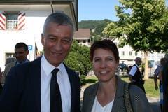 Landrat Josef Bucher (CVP) und Neu-Landrätin Franziska Rüttimann (CVP). (Bild: Sepp Odermatt (Stansstad, 27. Juni 2018))