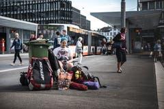 Der Bahnhof St. Gallen wird langsam von Festivalbesuchern bevölkert. (Bild: Sabrina Stübi)