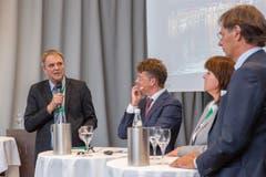 Am Podium in Luzern diskutierten Experten über «ambulant vor stationär». (Bild: RVK/Monique Wittwer, 29. Juni 2018)