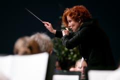 Dirigentin Hagia Pastor vom Blasorchester Feldmusik Rain. (Bild: Philipp Schmidli (Eschenbach, 3. Juni 2018))