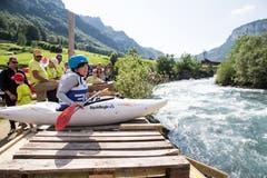 Lena Rothenbühler beim Start. (Bild: Manuela Jans-Koch, Muotathal, 2. Juni 2018)