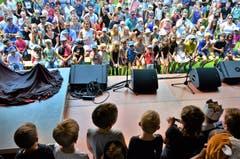 Bei der Aufführung ihres Rittermusicals hatten die Kindergärtler ein grosses Publikum.