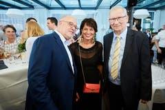 Direktor Fritz Erni mit Bundesrätin Doris Leuthard und Verwaltungsratspräsident Karl Eugster.