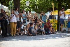 Samstagnachmittag am Luzerner Fest 2018. Hier beim Kinderfest beim Pavillon.