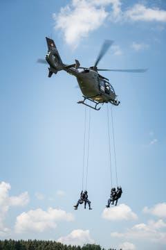 Die Vorführung der Luzerner Polizei. (Bild: Roger Grütter)