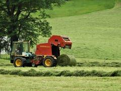 """So funktioniert das """"Moderne Heuen"""" und es geht in der heutigen Zeit zur Freude der Bauern ganz easy! (Bild: Margrith Imhof-Röthlin)"""