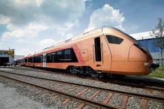 Die aerodynamische Schnauze ist das neue Gesicht des Voralpen-Express.