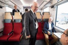 SOB-Verwaltungsratspräsident Hans Altherr freut sich über den neuen Triebzug.