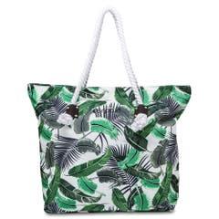 Aufhübscher: Einmal lässig über die Schulter geworfen, wird das eigene Bade-Outfit bereits auf dem Weg zum Strand mit einem sommerlichen Dschungel-Motiv aufgepeppt. Erhältlich auf www.manor.ch