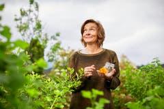 Silvia Wildisen stellt in ihrem Garten auch Naturöle her. (Bild: Beat Brechbühl)