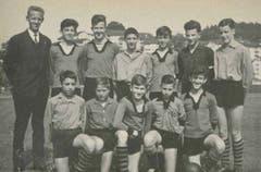 Fussbal-Juniorenmannschaft, 1960er Jahre.