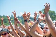 Das Publikum beim Konzert von Hecht, Bild: Urs Bucher