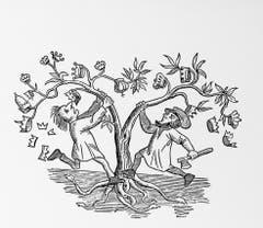 Dass 1848 die Monarchien fallen würden, wünschte sich der republikanische «Postheiri» in dieser Karikatur. (Bild: Kreis, Der Weg zur Gegenwart)