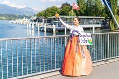 Auf der Seebrücke Luzern angetroffen: «Kennst du JeJu?» (Bild: Jörg Meier)