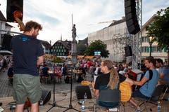 Die Formation Bircherix unterhält das Publikum mit ihrem vielfältigen Stilmix. (Bild: Edi Ettlin, Stans, 9. Juli 2018)