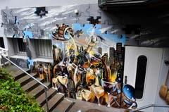 Arbeit von Ezra Pirk an der Luzerner Baselstrasse. (Bild: PD)