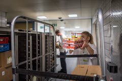 Zulieferung für die Küche. (Bild: Michel Canonica)