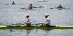 Impression eines Wettkampfes im Zweier-Boot. (Bild: Boris Bürgisser (Luzern, 14. Juli 2018))