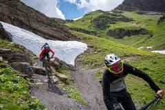 Der Jochpass-Trail ist so gebaut, dass auch weniger geübte Mountain-Biker ihren Spass haben.
