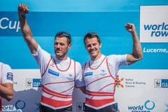 Bronze beim Männer-Doppel für die Schweizer Nico Stahlberger (links) und Roman Röösli
