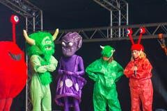 Die fünf Alienvölker von «LUpiter18» stellen sich vor. (Bild: Dimitri Gwinner v/o Sherpa)