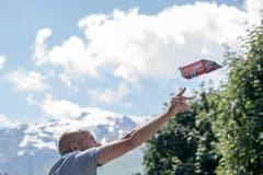 Eleganter Wurf. (Bild: Urs Flüeler/Keystone, Engelberg, 15. Juli 2018)